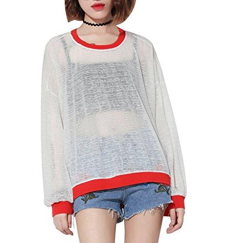 ELLAZHU - Camiseta - para mujer blanco