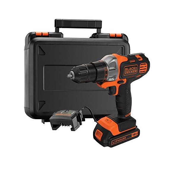 BLACK+DECKER MT218K-GB 18V 10mm Li-ion Cordless Multi-Evo Multitool Starter Kit with Drill Driver Head (Orange) 1
