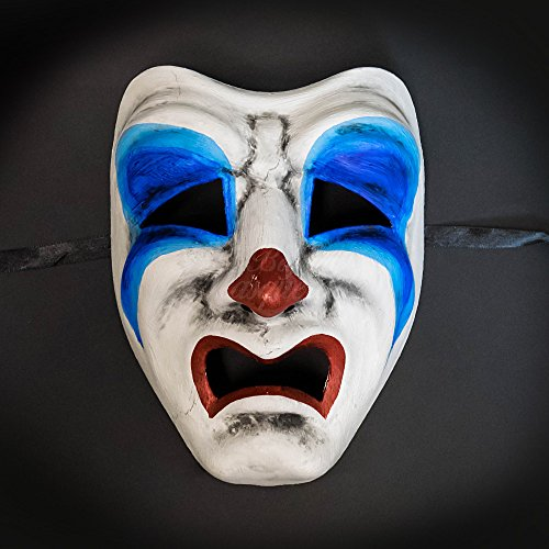 KB Halloween Party Mask Tragedy Face Sad Clown Costume Masquerade Mask -