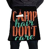 Men & Women Short Aprons Ironworker America Flag Flower Shop Sleeveless Anti-Fouling Overalls Portable Pocket Design