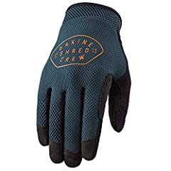 The Dakine Covert Gloves' simple design and unpadded construction ensure secure hand-to-bar feel, without skimping on the details. The body of the gloves are sewn from a 4-way stretch airmesh fabric that wicks moisture away from your skin, an...