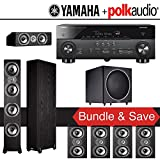 Polk Audio TSi 500 7.1-Ch Home Theater System with Yamaha AVENTAGE RX-A760BL 7.2-Ch Network AV Receiver