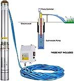 LOVSHARE 110V 1100W Deep Well Pump 1.5HP 4 Inch