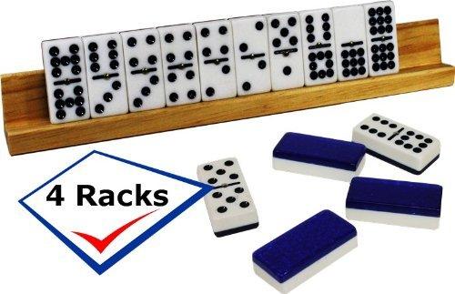 【格安SALEスタート】 Domino holder. Ideal for game. the double holder. nine game. the 4 quality wood racks per order B01NAC0KT2, スーツケースの旅のワールド:3ccb00ff --- yelica.com