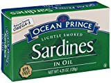 Ocean Prince Sardines in Oil, 4.25-Ounce Cans (Pack of 12)