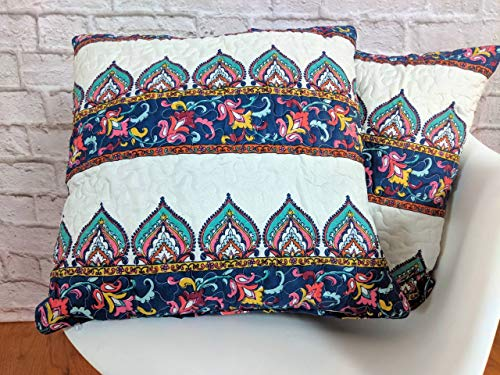 DaDa Bedding Throw Pillow Covers - Set of Two Matching Bohem