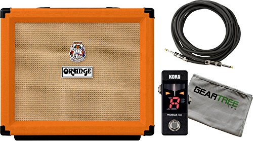 Orange Rocker 15 Guitar Combo Amp with 1 x 10 Gold Label Speaker w/ Cloth, Cable, and Pedal Tuner by Orange