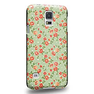Case88 Premium Designs Art Flower Spring haze Pattern Protective Snap-on Hard Back Case Cover for Samsung Galaxy S5