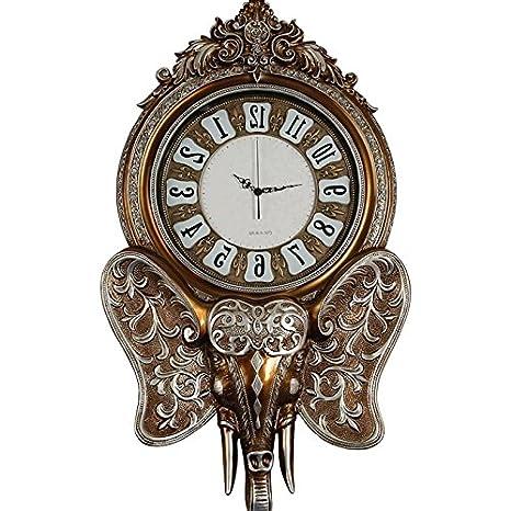 Y-Hui el elefante en el Salón Reloj de pared Relojes Mute ? Salón Gráfico de pared Reloj de pared Art Deco, el otro color ?: Amazon.es: Hogar