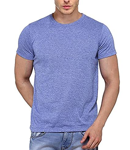 30f318bb8 B W Men s Premium Grindle Round Neck T-Shirt - Royal Blue  Amazon.in   Clothing   Accessories