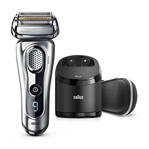 Braun Series 9 Men's Electric Foil Shaver with Wet & Dry Integrated Precision Trimmer & Rechargeable and Cordless Razor with Clean&Charge Station, 9291cc