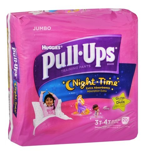 Huggies Pull-Ups Night Time Training Pants for Girls, Jumbo Pack 3T-4T 20.0ea(pack of 1)