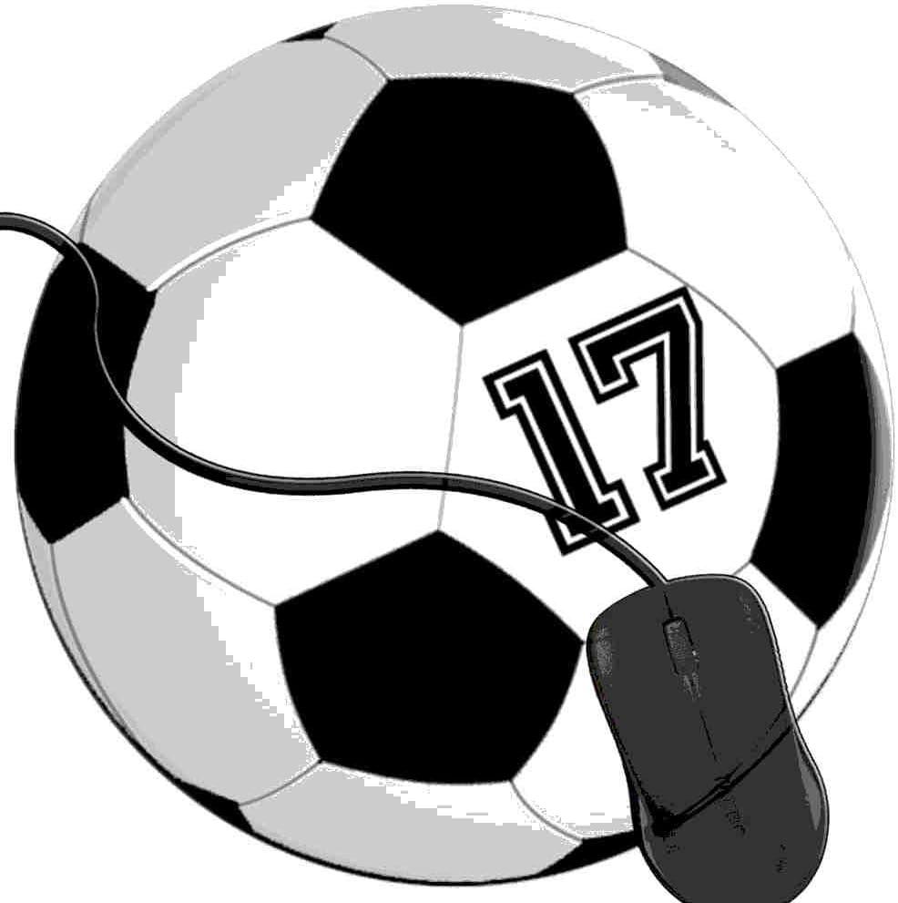 QCFW Alfombrilla de Ratón Futbolista 17 No 17 Pelota de Futbol ...
