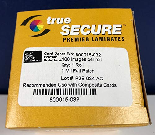 (Zebra 800015-032 Ribbon True Secure Premier Hologram Laminates)