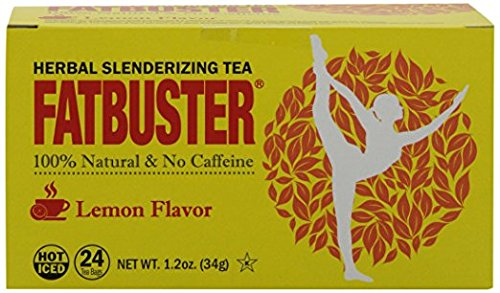 Fatbuster Weight Lost Herbal Slenderizing Tea Lemon Flavor 24-Count (Pack of 4) by Fatbuster