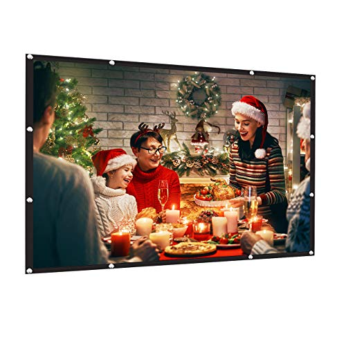 AMWOKE Projector Screen,100 inch Portable Projection Screen with 16:9 HD...