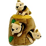 Hide a Squirrel Fun Hide and Seek Interactive Puzzle Plush Dog Toy by Outward Hound, 4 Piece, Large