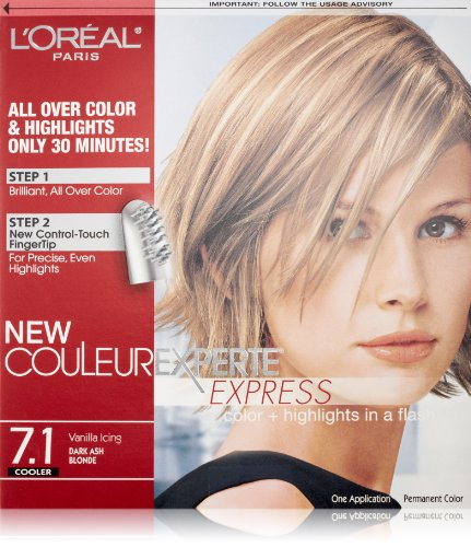 L'Oréal Paris Couleur Experte Hair Color + Hair Highlights, Dark Ash Blonde - Vanilla Icing Ash Blonde Base