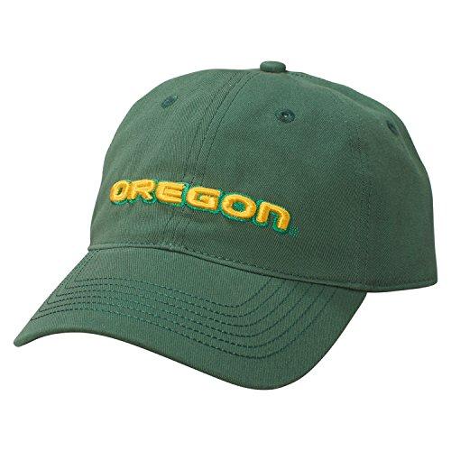 Ouray Sportswear NCAA Oregon Ducks Epic Washed Twill Cap, Adjustable Size, Athletic Hunter (Baseball Oregon Ducks)