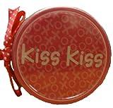 Valentines Day Pink Bar Coasters (Kiss Kiss)