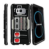 MINITURTLE Case Compatible w/ [Clip Armor] Layered Case for [Samsung Galaxy S8 Active| SMG892A ]DualLayer Hybrid Hard Shell Bumper Case w/ BuiltIn Stand and Holster Game Controller Retro For Sale