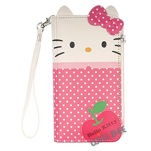 LG V20 Case Hello Kitty Cute Diary Wallet Flip Synthetic Leather Anti-Shock LG V20 Cover (Wallet Body Dot Pink (LG ()