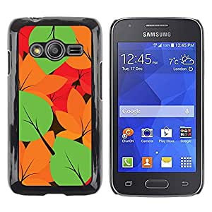 Shell-Star Arte & diseño plástico duro Fundas Cover Cubre Hard Case Cover para Samsung Galaxy Ace4 / Galaxy Ace 4 LTE / SM-G313F ( Autumn Leaves Colors Pattern )