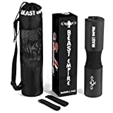 Beast Empire Barbell Pad – Protects Neck and Shoulders During Squats, Lunges and Hip Thrusts – Features Security Straps and Premium Anti-Slip Foam Rubber – Includes Exercise Routine and Carrying Bag Review