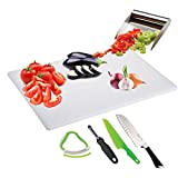 Kitchen Gems 6 Piece Vegetable Salad Kitchen Utensil Gift Set - Includes Salad Cutting Board and A Few Salad Knives with Other Essential Salad Prep Tools and Salad Making Kitchen Utensils