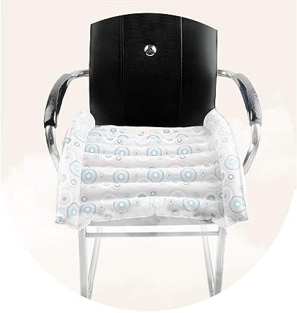 Cojín antiescaras inflable con orificios para silla de ruedas y aseo y cama, 55x44 cm