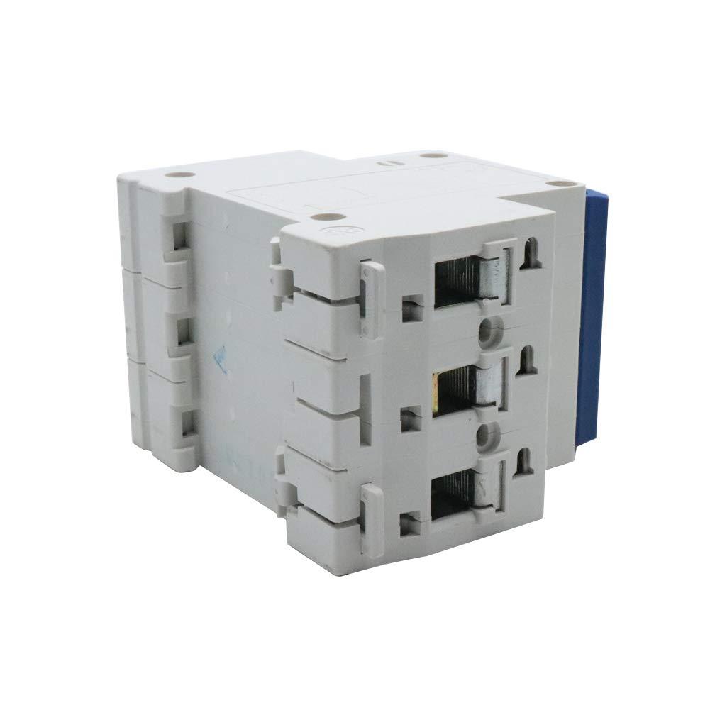 Yohii DIN Rail Mounted Circuit Breaker 10A Breaking Capacity 3 Pole DZ47-63 C10