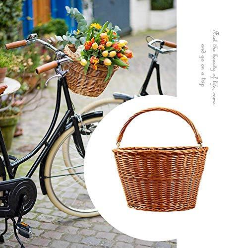 Totalshop - Cesta de Mimbre para manubrio Delantero de Bicicleta, A