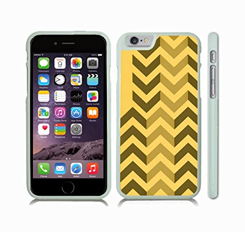 Beige Stripes Snap (iStar Cases® iPhone 6 Case with Chevron Pattern Brown/ Tan Stripe , Snap-on Cover, Hard Carrying Case (White))