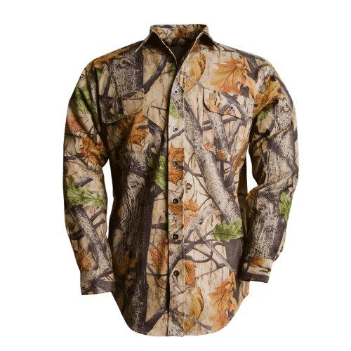 Wooden Trail Camo L/S Twill Shirt Big Game Camo L CW108