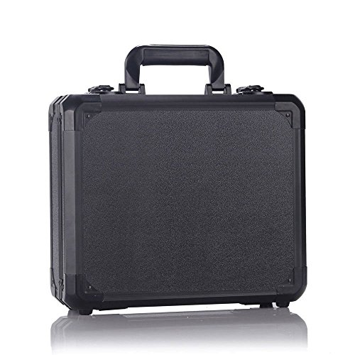 Pro Aluminum Hard Case (Aluminum Hardshell Carrying Case Bag for DJI Mavic Pro, DJI Mavic PRO Platinum, and DJI Mavic PRO Alpine White + Fits Extra Accessories (Black))
