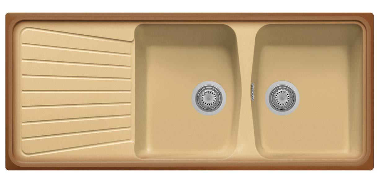 Spazio 116.20 Plados /Évier//à deux vasques et /égouttoir /à vaisselle