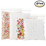 Foam Beads for Slime DIY – Styrofoam Slime Beads with Fruit Splice and Sticky Googly Eyes for Kids Art Crafts, Crunchy Floam Slime, Home Decor and Party Decorations