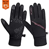 Batuzon Winter Running Gloves Touchscreen Windproof Water-Resistant Warm Cycling Gloves Lightweight Thermal Liner Gloves Riding Driving Hiking Outdoor Sports Gloves Cold Weather for Men Women