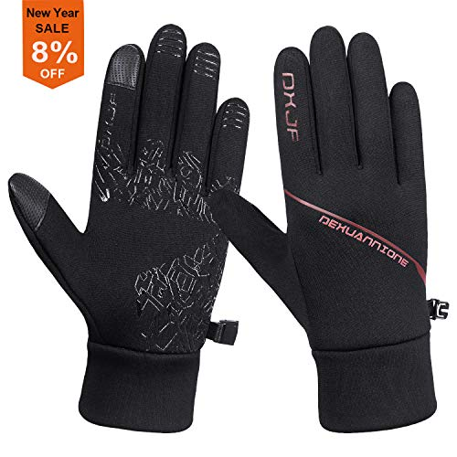 Batuzon Lightweight Running Gloves Touchscreen Windproof Cycling Gloves Men Women Thermal Glove Liners for Outdoor Sports Driving Hiking Riding in Early Winter Spring Fall