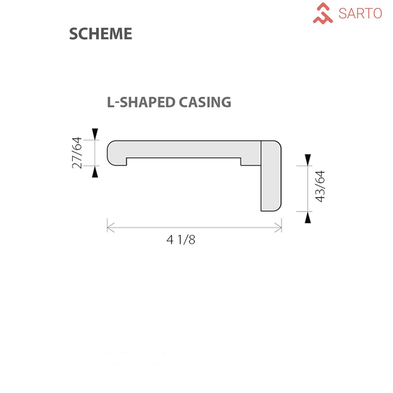 Modern Casings Frames For Interior Door (White Silk)