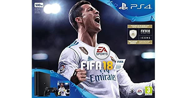 PS4 Slim 500Go + FIFA 18 [Importación francesa]: playstation ...
