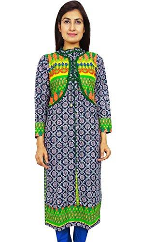 Diseñador indio de Bollywood Ropa Casual étnico Kurti vestido de la túnica Blue-1