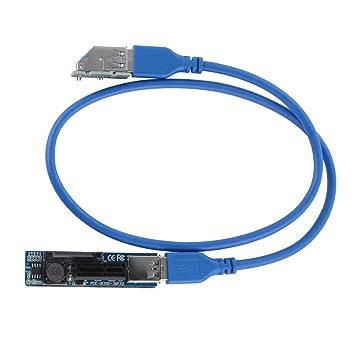 Tutmonda 30cm Cable USB PCI-E X1 Tarjeta gráfica de ...