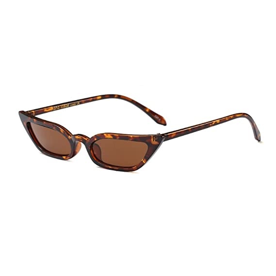MINCL/Sexy Women Small Frame Chic Vintage Designer Lady Cat Sunglasses