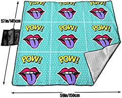 Amazon.com: Cureably Pow Red Lips Purple Tongue Personalized ...
