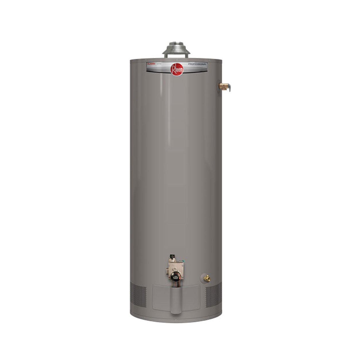 Rheem PROG40-38N RH59 Professional Classic Tall Residential 38K BTU Atmospheric Natural Gas Water Heater