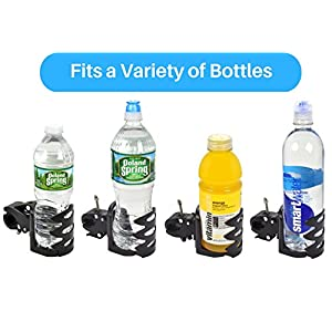 Exercise Bike Water Bottle Holder, Quick Release Easy Adjustable Mount for Handlebars on Indoor Spin Exercise Bikes and Bicycles - Domain Cycling