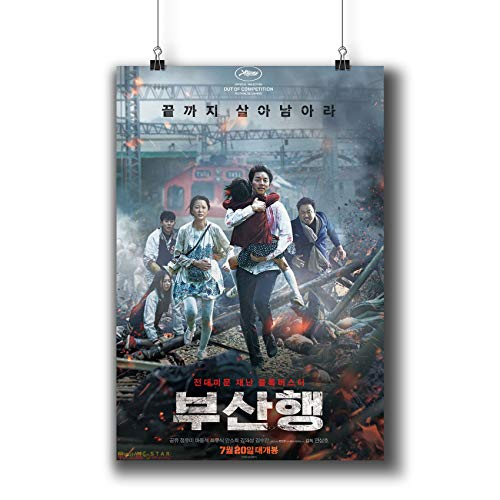 Train to BUSAN (2016) Movie Poster Small Prints 1022-002부산행 Korean Film,Wall Art Decor for Dorm Bedroom Living Room (A4|8x12inch|21x29cm) ()