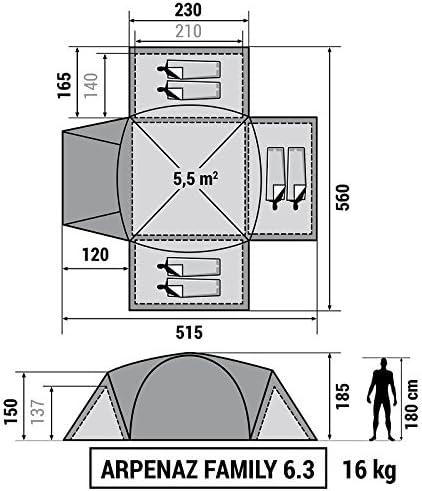 Decathlon - Tienda de campaña Arpenaz Camping Family ...