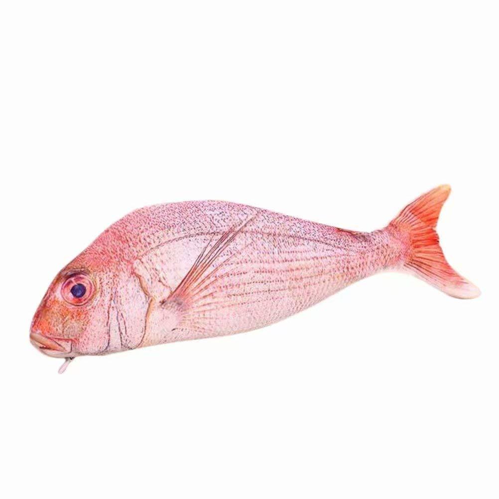 Leisial Etui Bleistifttasche Fischmotiv Tasche Karpfen Stifthalter f/ür Kinder lustiges Geschenk Aufbewahrungstasche Rot Fisch